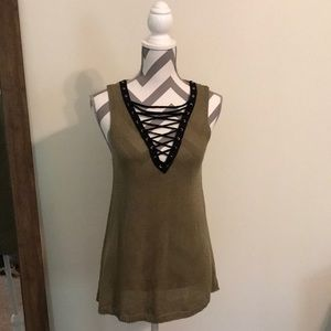 Entro Tied Up Tank Top size Small